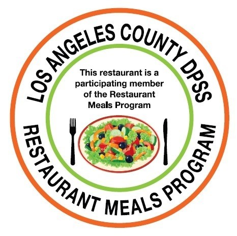 Image of the sign displayed in restaurants that participate in the Restaurant Meals Program.